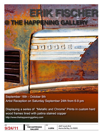 The Happening Gallery --- September 16- November 6th 2011