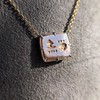 'For You I Live' 18kt Rose Gold Cast Rebus Pendant, by Seal & Scribe 26