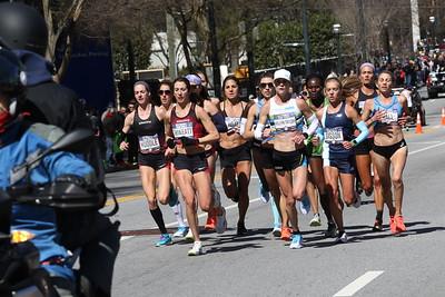 Women's 2nd Loop Heading Back - 2020 U.S. Olympic Marathon Trials