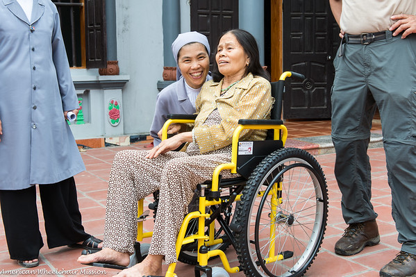 Bac Ninh Diocese Wheelchair Deliveries - Day One