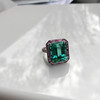 11.77ct Tourmaline Halo Ring by Leon Mege, AGL Cert 25
