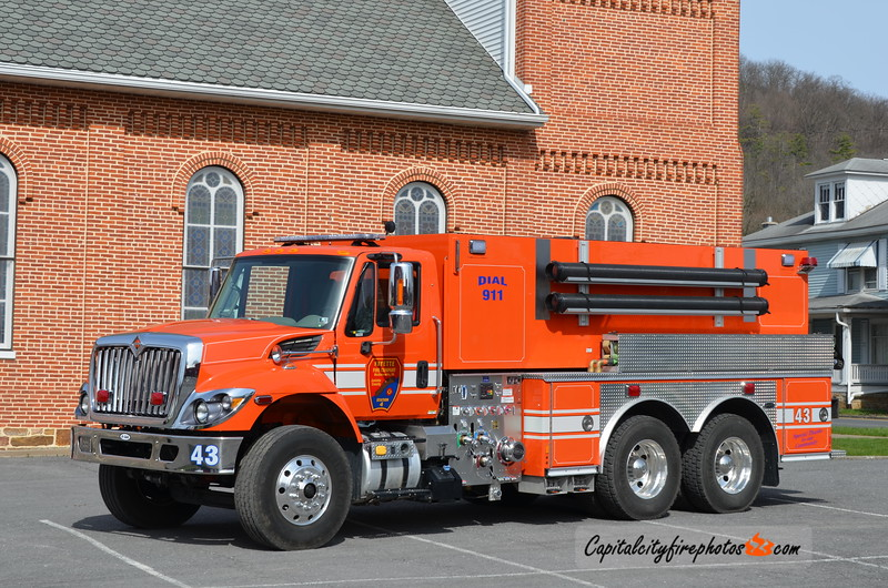 Fayette Fire Co., McAlisterville Tanker 43: 2017 International/E-One 750/3000