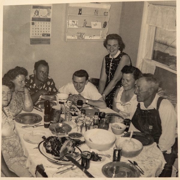 "1957, Richard ""Jack"" Johnson, family dinner"