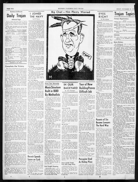 Daily Trojan, Vol. 31, No. 40, November 10, 1939