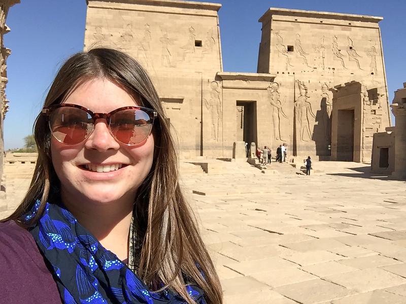 Amanda at Philae Temple