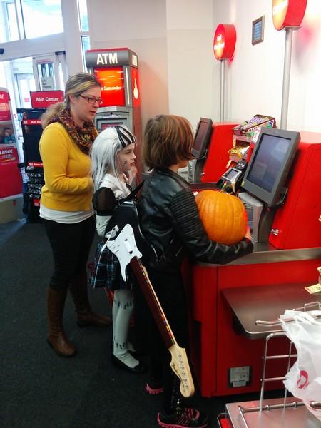 Pumpkin checkout.