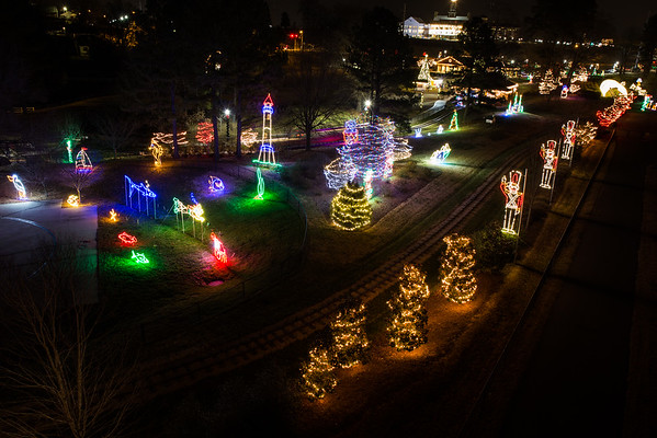2014 Dec - Village Park Christmas Lights from On High