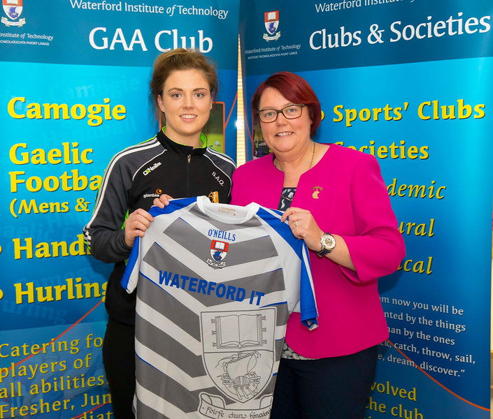 WIT holds event to honour 2016 All Ireland medal winning students. Pictured with the  President of the Camogie Association Catherine Neary is Sarah Ann Quinlan of the Kilkenny Senior Camogie Team. Picture: Patrick Browne  Waterford Institute of Technology's presence and influence across Gaelic Games at a national level in 2016 has been very noticeable. In total there are 32 past and present WIT students on the respective playing panels that won All Ireland medals in 2016 and a further 4 members on the backroom management teams.   To honour this huge achievement, WIT GAA Club is paying tribute to these 36 past members on securing these prestigious national titles on Monday 3 October, 6.30pm at the WIT Arena.   Along with the players, the prestigious cups, including the All Ireland Senior Hurling Cup- Liam McCarthy, the All Ireland Senior Camogie Cup- O'Duffy, The All Ireland Minor Cup and the All Ireland Under 21 Hurling Cup- James Nowlan, will be on show on the night.