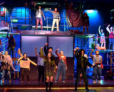 "04/04/17 Upper Dublin High School rehearses ""RENT"""