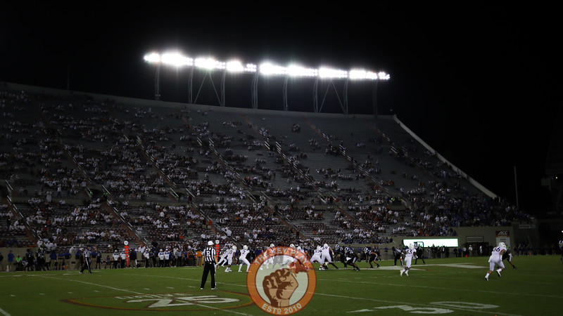 Lane Stadium sits almost empty in the fourth quarter as the Hokies surrender 45 points to Duke. (Mark Umansky/TheKeyPlay.com)