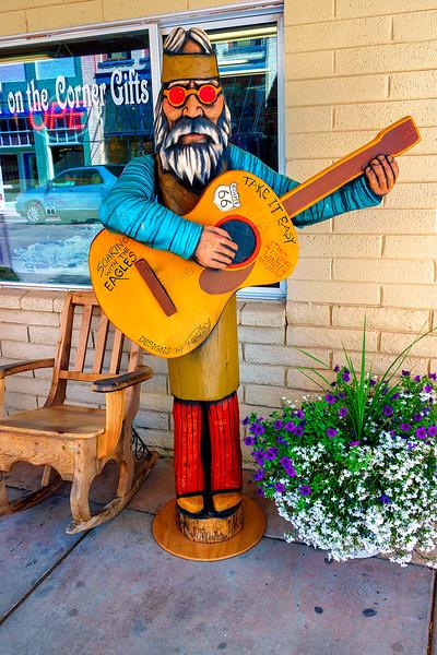 Take it Easy outside Winslow gift shop