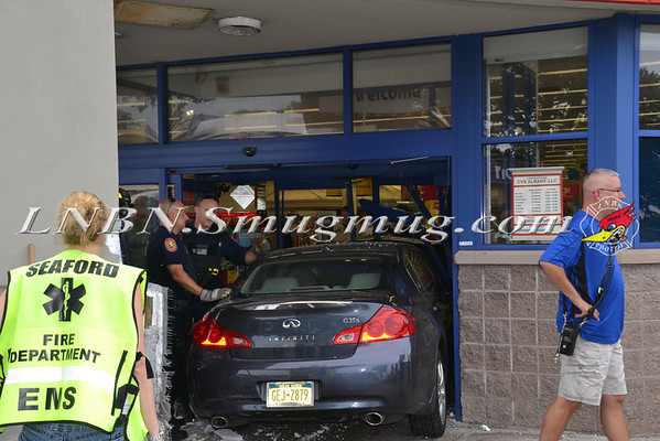 Seaford F.D. Car into Building 2250 Seamans Neck Rd (CVS Pharmacy) 7-11-13