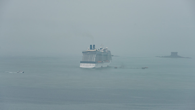 Mist, Celebrity Eclipse     Celebrity Eclipse     Celbrity Eclipse, Jerbourg, Guernsey