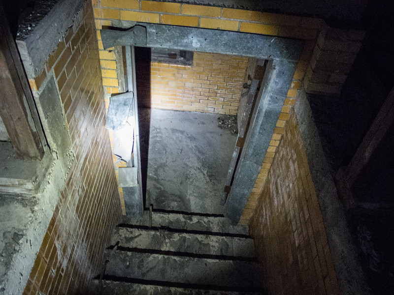 Looking down from the attic