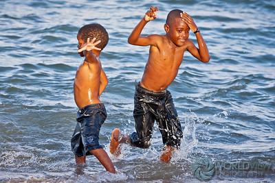 Garifuna beach boys (Hopkins, Belize)