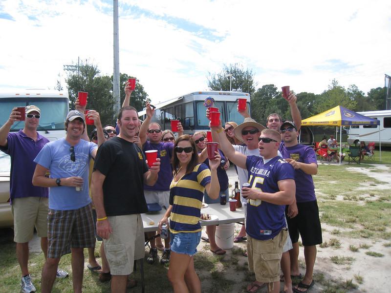 9/5/2010 - ECU vs. Tulsa - Danny, Preston, Jon, Kelly, Lauren, Staci, JG, Tom, Robbie, Steve