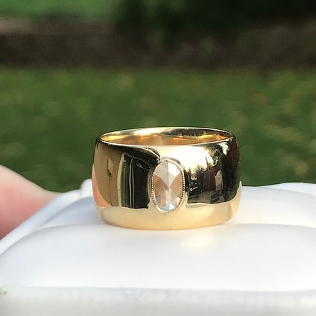 .30ct Rose Cut Diamond Cigar Band