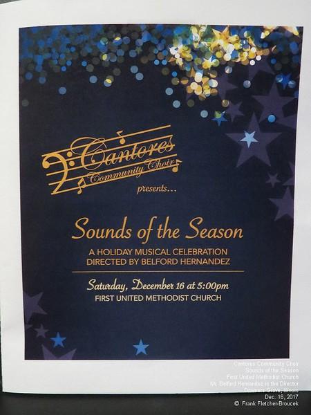 Cantores Choir DG First United Dec 16 2017 part 1