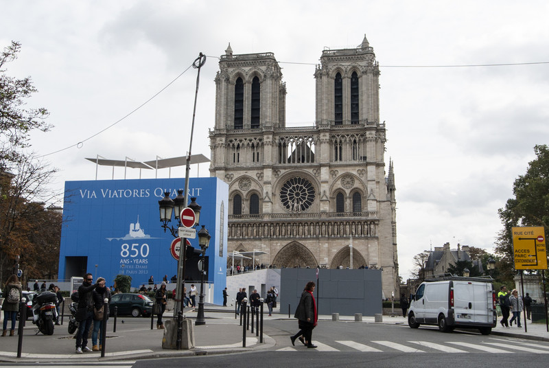 Ugly entrance to Notre Dame