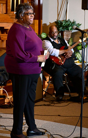 2/22/2020 Mike Orazzi | Staff Shirley Hickey during the Bristol NAACP Black History Month musical held at the Bridge Community Church on School Street in Bristol on Saturday.