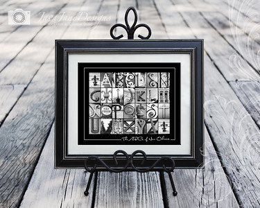 4x6 New Orleans Letters