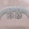 Snowflake-Motif Diamond Earrings 2