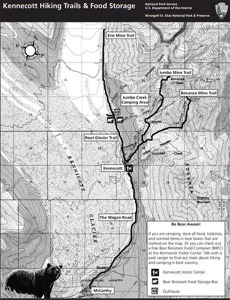 Wrangell-St. Elias National Park and Preserve (Kennecott Area Trails)