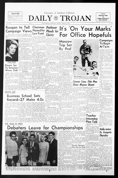 Daily Trojan, Vol. 57, No. 103, April 18, 1966