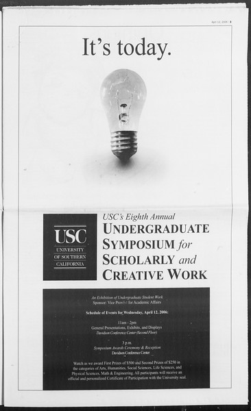 Daily Trojan, Vol. 157, No. 56, April 12, 2006