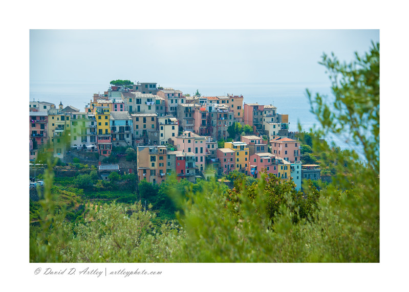 View of Corniglia from along the Trail No. 2 (Blue Trail) of Cinque Terre National Park,, Italy