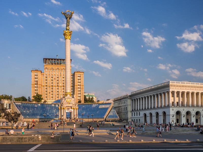 Peaceful Evening on the Maidan, Kiev, Ukraine