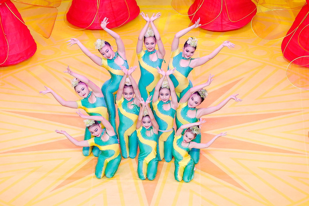. Dancers perform during the opening ceremony of the 45th Artistic Gymnastics World Championships at Guangxi Sports Center Stadium on October 7, 2014 in Nanning, China.  (Photo by Lintao Zhang/Getty Images)