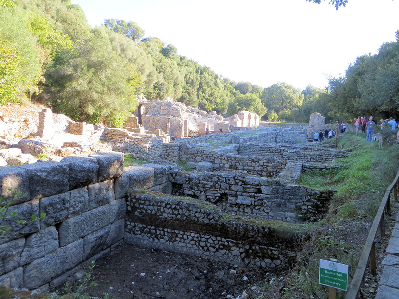 An overview of some of the excavations.  There has been a settlement here since the early Iron Age.  The first mention of it as a city is  in the 6th century B.C.  A succession of civilizations, including Greek and Roman, Venetians, and Turks have occupied the site.