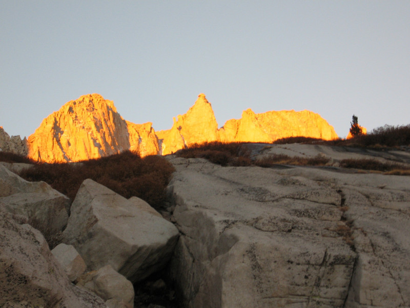 early morning light from below the slabs