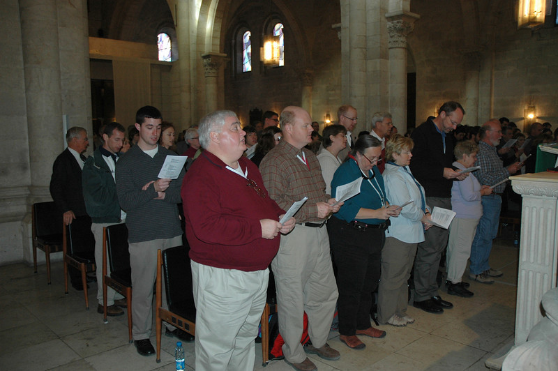 The congregation at the Lutheran Church of the Redeemer, Jerusalem, Jan. 11 included students and faculty from four ELCA seminaries: The Lutheran School of Theology at Chicago, the Lutheran Theological Seminary at Philadelphia, Lutheran Theological Southern Seminary, Columbia, S.C., and Trinity Lutheran Seminary, Columbus, Ohio.