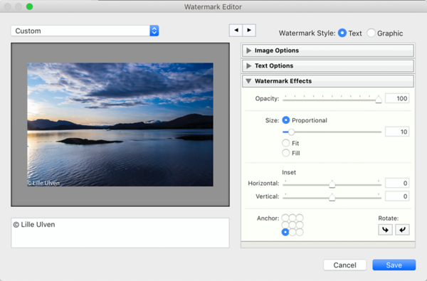 Watermark Editor - Watermark Effects