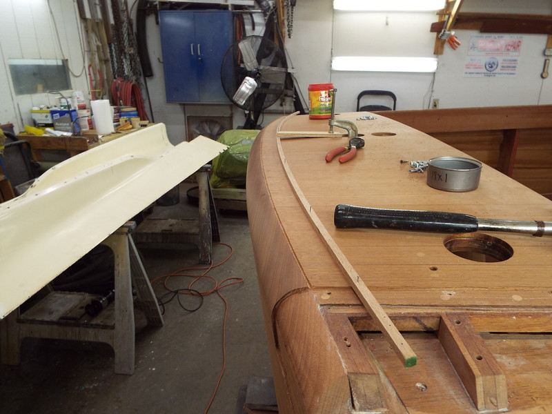 Transom router jig in place.