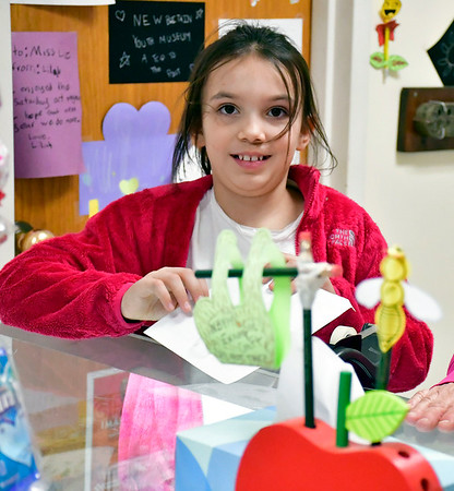 2/8/2020 Mike Orazzi | StaffrJulia Parciak,9, during a Valentine's Day Party at the New Britain Youth Museum on Saturday.