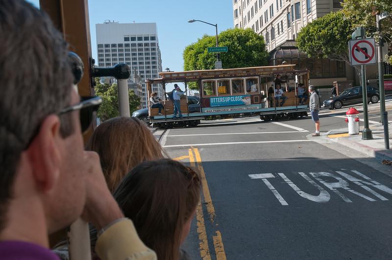 Wie funktionieren Kreuzungen bei Cable Cars? Wird im Museum erklärt.