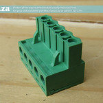 SKU: AE-BLOCK/508/5, Green Connector 5.08mm Pitch L-Type Top Feed 5 Way PCB Cable Terminal Block, 5Pin Plug in Screw
