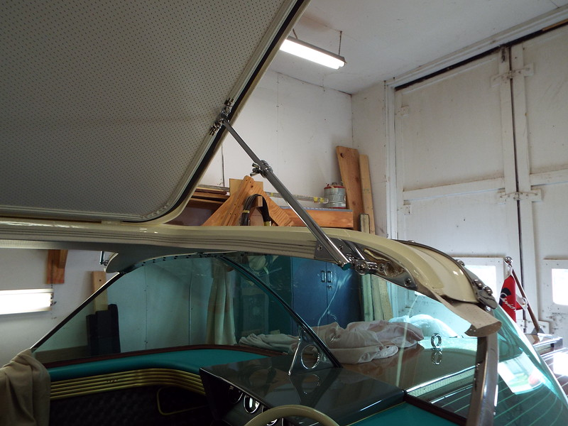 Starboard door hardware installed.