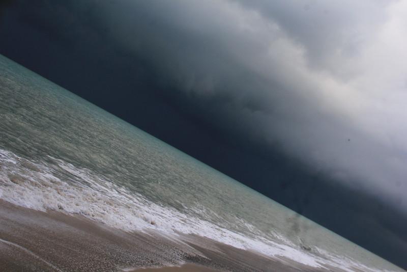 Cloudy rainy beach at FullMoon at November at NakhonSi