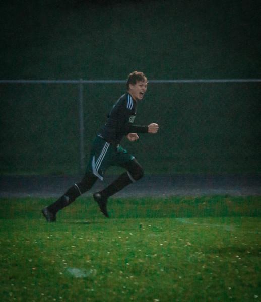 Holy Family Boys Varsity Soccer Section 6A Quarterfinal vs. Monticello, 10/10/19: Ryder Ferguson '22 (5)