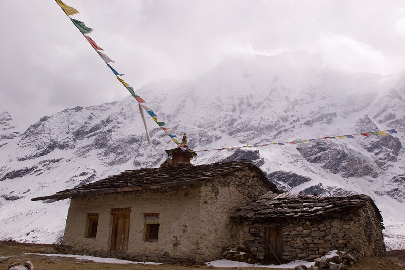 Pungyen gompa near Samagaon on the Manaslu trail.