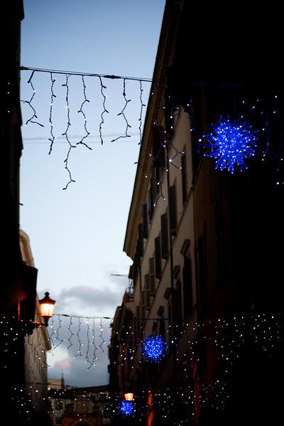 Apartment Buildings & Christmas Lights