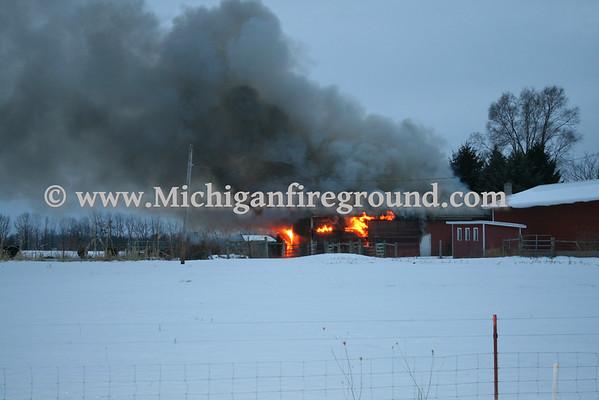 1/19/11 - Leslie barn fire, 1211 Plains Rd