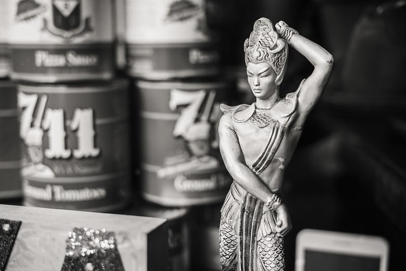A figurine seen in a Chinatown restaurant.