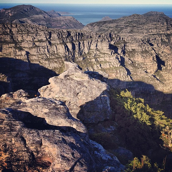 Table Mountain looking west over canyon-y goodness, Cape Town