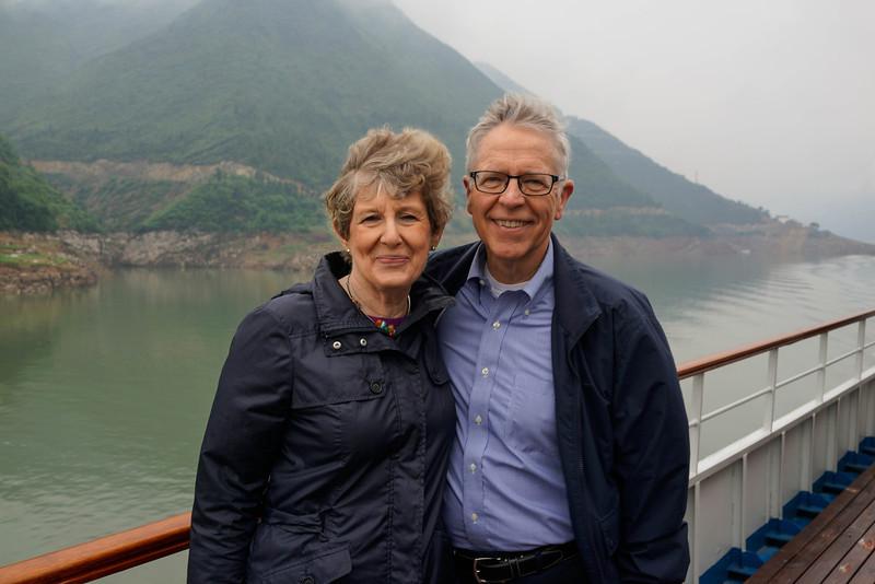 Marilyn and Ken Rogers on Yangtze River