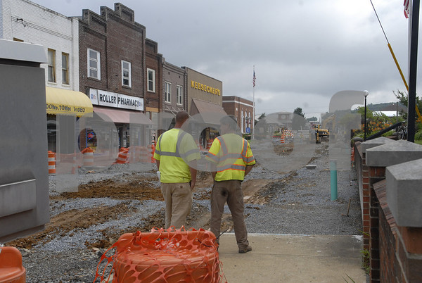Erwin Downtown Revitalization Construction Continues - July 2013